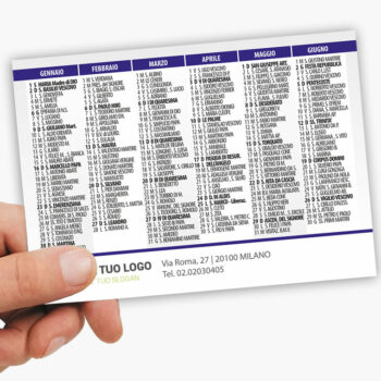 calendario tascabile