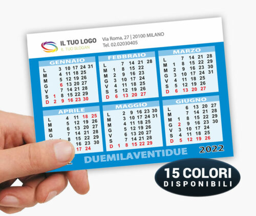 calendari tascabili 2022