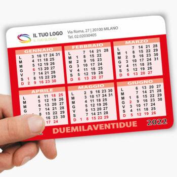 mini calendari personalizzati